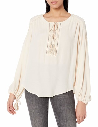ASTR the Label Women's Ida Blouse with Tassels