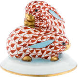 Herend Cuddly Bunnies Figurine