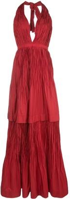 Alexis Tressa halterneck gown