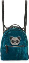 Les Petits Joueurs Back Mick Metal Panda Backpack, Turquoise