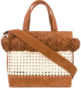 Mehry Mu - Fey woven basket bag - women - Bamboo/Suede - One Size