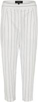 Oxford Erica Pinstripe Trousers Wht X