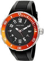 Philip Stein Teslar Men's 34-BOR-RB Active Extreme Analog Display Japanese Quartz Black Watch
