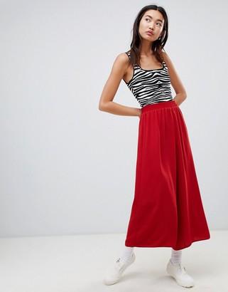 Asos DESIGN tailored easy elasticated waist soft culottes