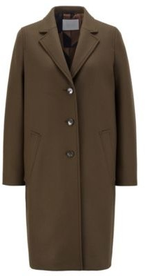 HUGO BOSS Relaxed-fit coat in wool-blend twill with cashmere