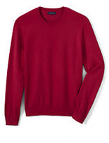 Classic Men's Tall Performance Crew Sweater-Rich Red