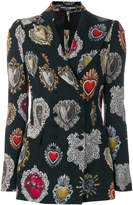 Dolce & Gabbana Sacred Heart print fitted jacket