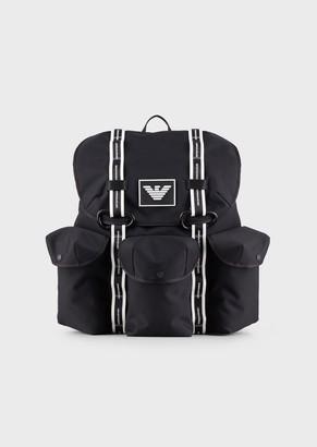 Emporio Armani Multi-Pocketed, Cordura Backpack