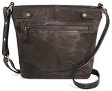 Bolo Born Women's Leather Crossbody Handbag with Zip Closure