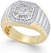 Macy's Men's Diamond Two-Tone Cluster Ring (1 ct. t.w.) in 10k Gold