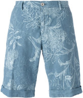 Etro floral print chinos shorts - men - Linen/Flax - 50