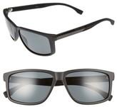 BOSS Men's 60Mm Polarized Sunglasses - Matte Black Carbon