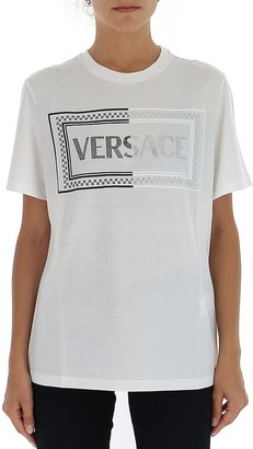 Versace Logo Embellished T-Shirt