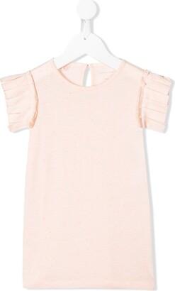 Stella McCartney Kids pleated sleeve T-shirt