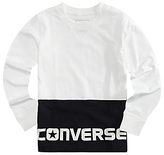 Converse Boys' Long Sleeve T-Shirt, White