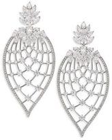 Adriana Orsini Magnolia Crystal Petal Drop Earrings