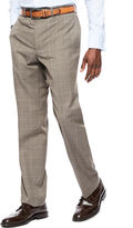 COLLECTION Collection by Michael Strahan Brown Tic Plaid Flat-Front Suit Pants - Classic Fit