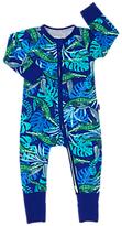 Bonds Baby Ribby Airlie Croc Wondersuit, Blue/Green