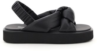 Miu Miu Padded Nappa Sandals