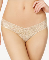 Hanky Panky Golden Leopard Sheer Lace Low-Rise Thong 4F1586