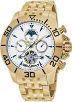 Seapro Sea-Pro Montecillo Mens Gold Tone Bracelet Watch-Sp5134