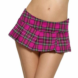 dPois Girls Tartan Pleated Billie Kilt Miniskirt Classical School Uniforms Skirts Scottish Skort Schoolgirl Costumes