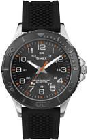 Timex Main Street Mens Black Silicone Strap Watch