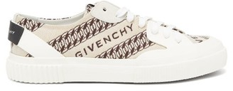 Givenchy Tennis Chain And Logo-jacquard Trainers - Beige Multi