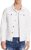 G Star 3301 Slim Fit White Denim Jacket