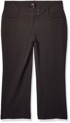 Rafaella Women's Plus-Size Curvy Fit Short Length Gabardine Trouser