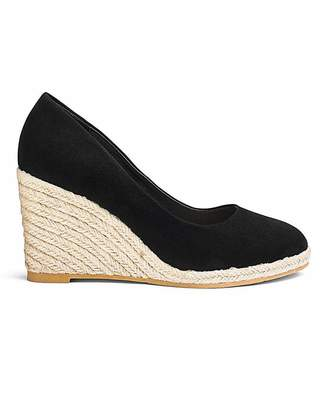 Simply Be Iris Espadrille Wedge Court Wide Fit