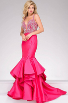 Jovani Crystal Embellished Plunging Sweetheart Mermaid Gown 32355
