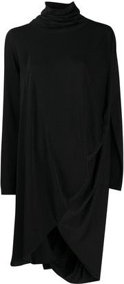 MM6 MAISON MARGIELA High-Neck Drape Dress