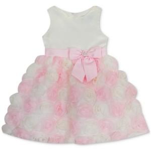 Rare Editions Baby Girls Soutache Dress