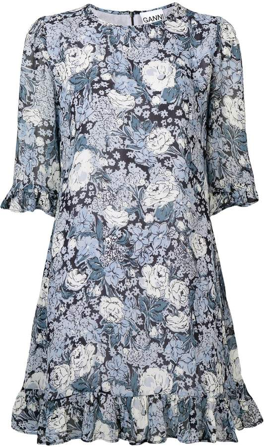 Ganni floral print dress