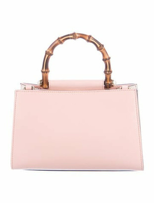 Gucci Small Nymphaea Bamboo Top Handle Bag w/ Tags Pink