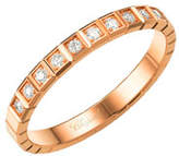 Chopard Ice Cube Mini Diamond Ring in 18K Rose Gold, Size 53