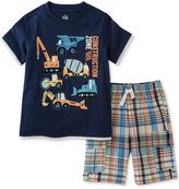 Kids Headquarters 2-Pc. Cotton Construction T-Shirt & Shorts Set, Baby Boys (0-24 Months)