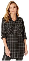 Sanctuary Main St. Boyfriend Tunic (Inclusive Plaid) Women's Clothing