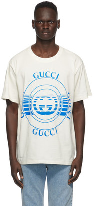 Gucci Off-White Disk Print Oversize T-Shirt