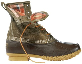 """L.L. Bean Women's Bean Boots, 8"""" Flannel-Lined, Thinsulate"""