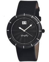 Simplify The 1300 Leather-band Watch.