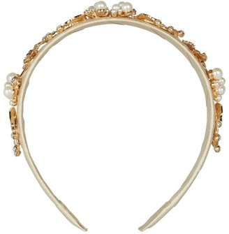 David Charles Filigree Leaf and Rose Hairband