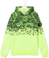 Stone Island Junior - teen printed hoodie - kids - Cotton - 14 yrs
