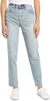 Pistola Denim Presley High Waist Distressed Straight Leg Jeans