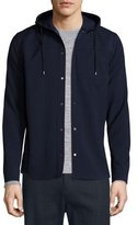 Vince Snap-Button Hooded Jacket, Coastal