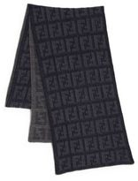 Fendi Logo Knit Wool Scarf