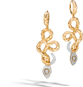 John Hardy Women's Legends Cobra Drop Earring in 18K Gold with Diamonds
