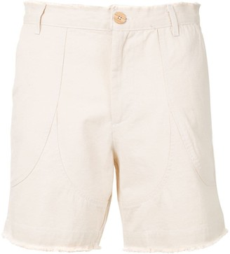 The Elder Statesman High-Rise Chino Shorts