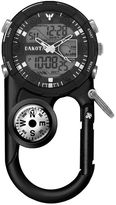 Dakota Men's Black Ana Digi Angler II Carabiner Clip Watch 37243